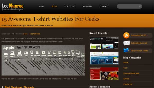 15 Awesome T-Shirt Websites for Geeks