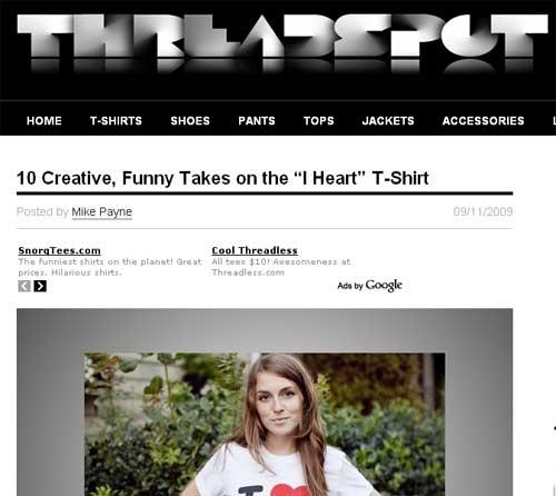 Threadspot Heart tees